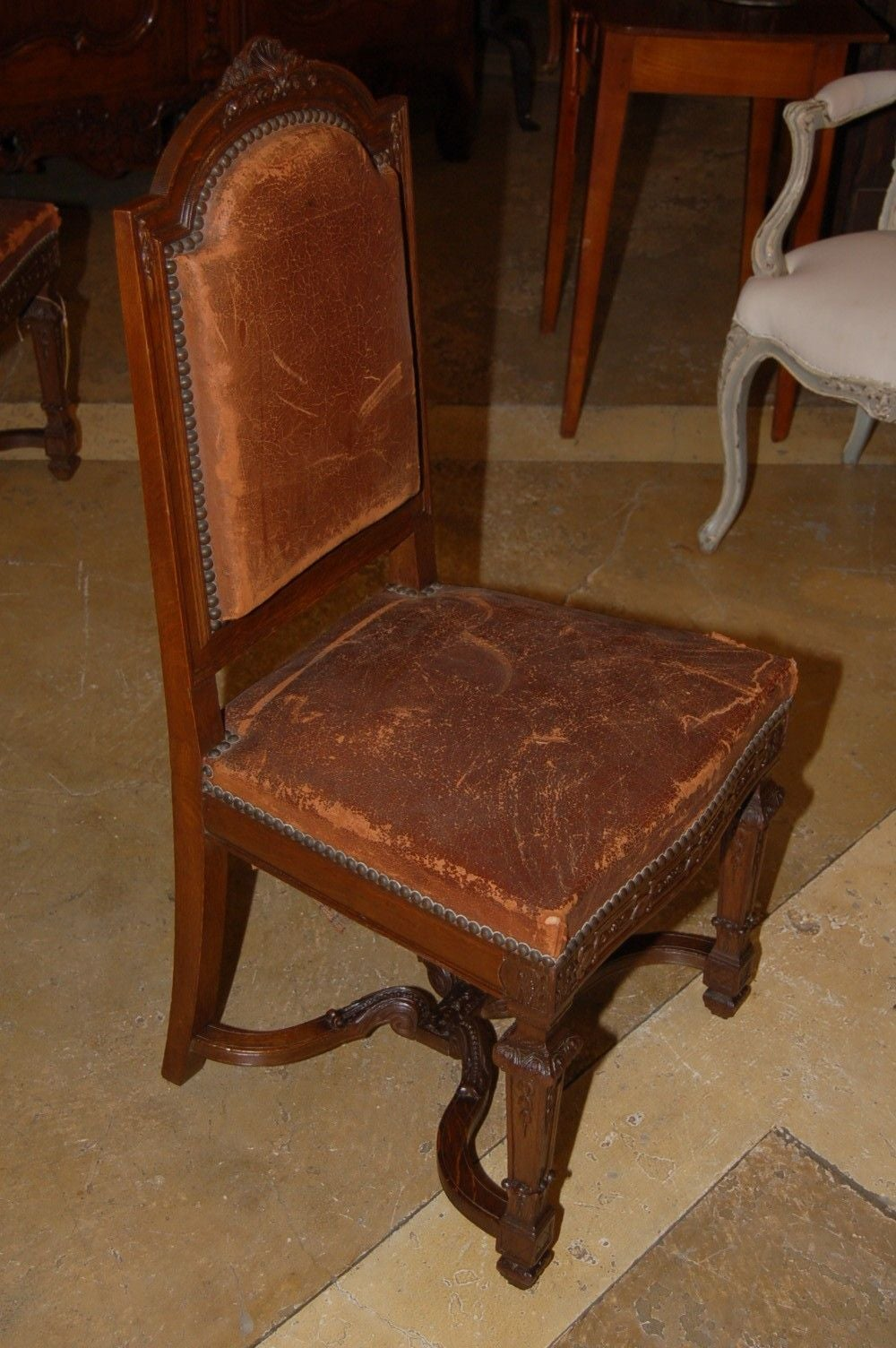 Set Of 8 Late 1800 S Oak Chairs At 1stdibs