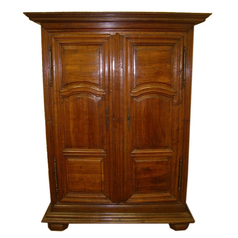 18th century louis xiv oak and cherry armoire at 1stdibs. Black Bedroom Furniture Sets. Home Design Ideas