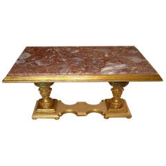 19th Century Italian Columns Made Into Coffee Table
