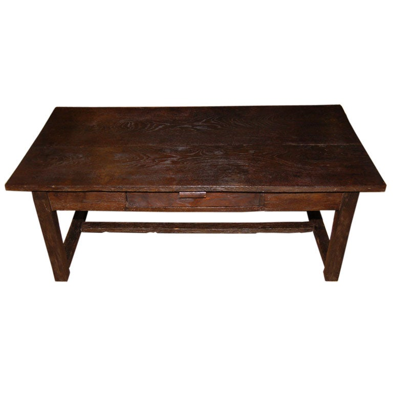 19th C Farm Table Cut Down Great Coffee Table At 1stdibs