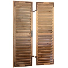 Pair Of 18th C. French Pine Shutters