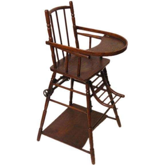 high chair baumann converts to a walker play chair at