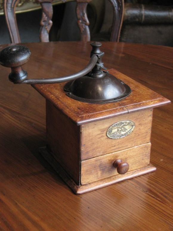 coffee grinder peugeot freres antique early 1900's for sale at 1stdibs