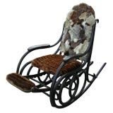 Thonet Chair cover In  Mink and  Rabbit  Fur