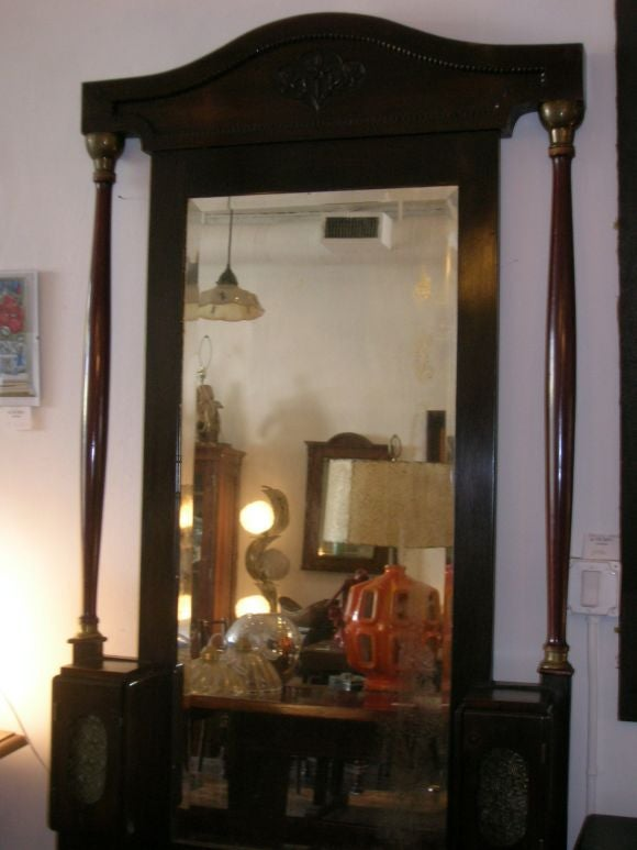 French Empire Large Self Standing Mirror For Sale At 1stdibs