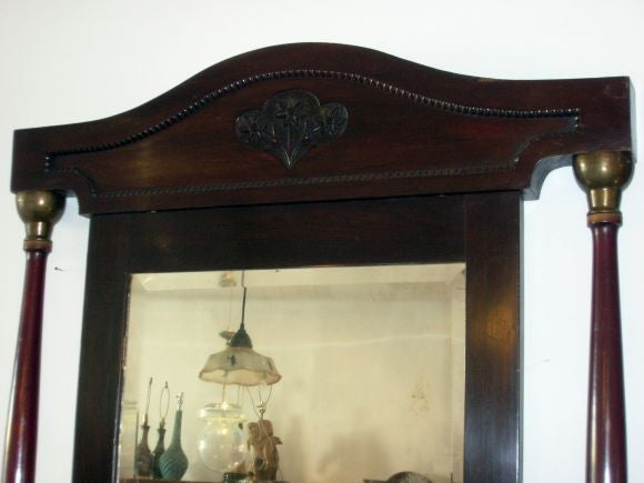 French Empire Large Self Standing Mirror 5