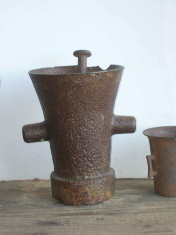 Dutch 19th Century Iron Apothecary Mortars For Sale
