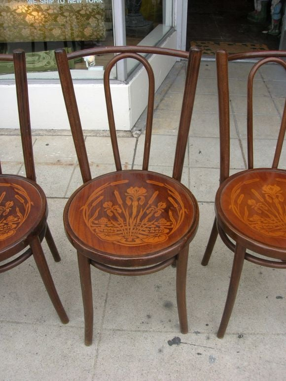 4 austrian bent wood dining room chairs at 1stdibs for S bent dining room furniture
