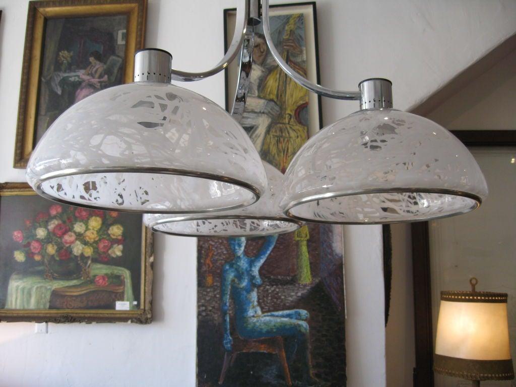 Italian Chandelier by S. T. L. for Lamperti For Sale