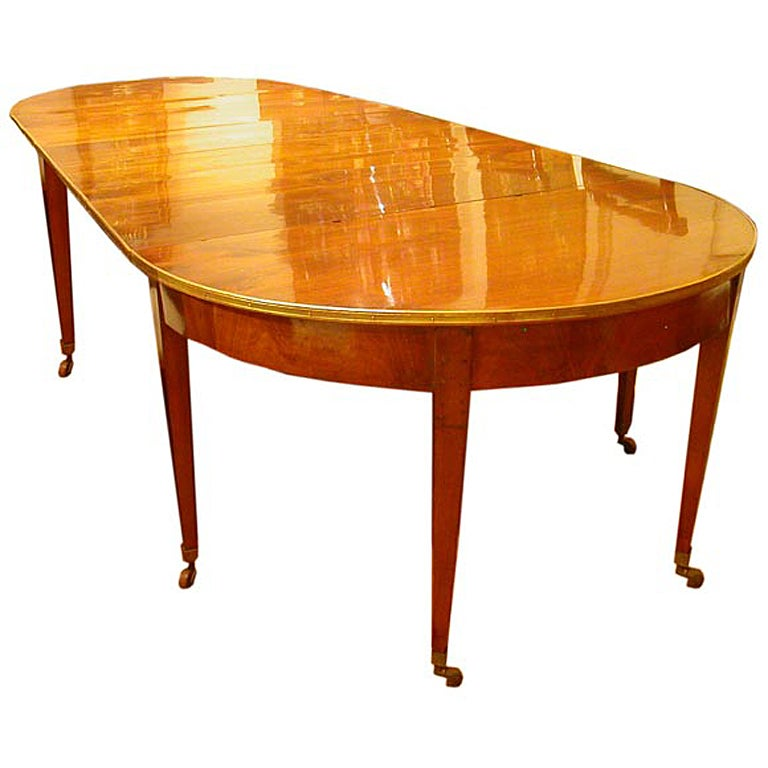 French Louis XVI Walnut Dining Table With 5 Leaves At 1stdibs