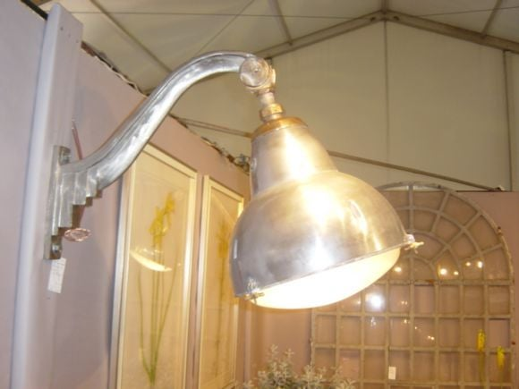 Art Deco steel and brass wall mounted light fixtures at 1stdibs