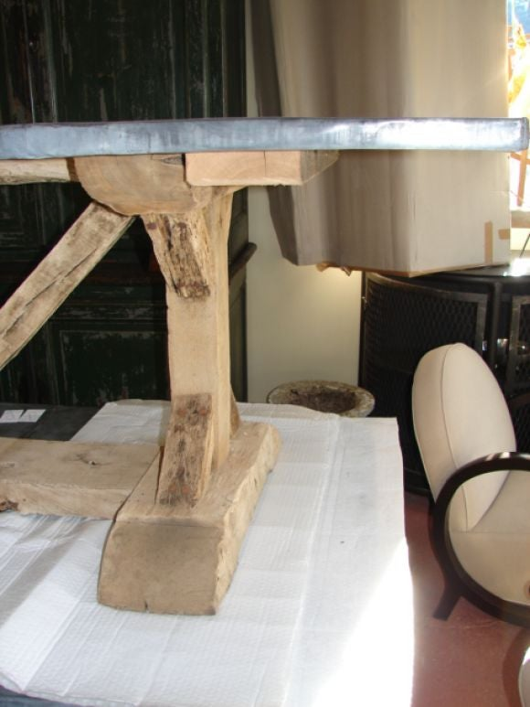 Zinc topped dining table with oak base at 1stdibs : oct06038 from www.1stdibs.com size 580 x 773 jpeg 53kB