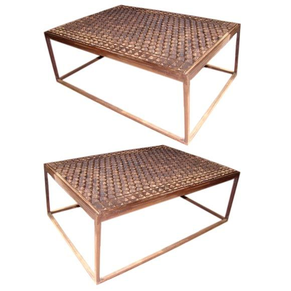 Honeycomb Grillework Coffee Table At 1stdibs