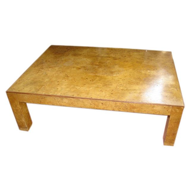 Burled Wood Modernist Coffee Table At 1stdibs