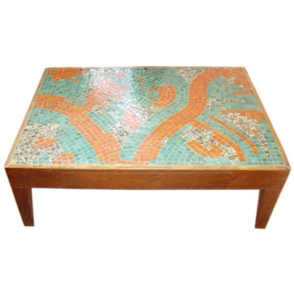 Abstract Mosaic Tile Coffee Table At 1stdibs