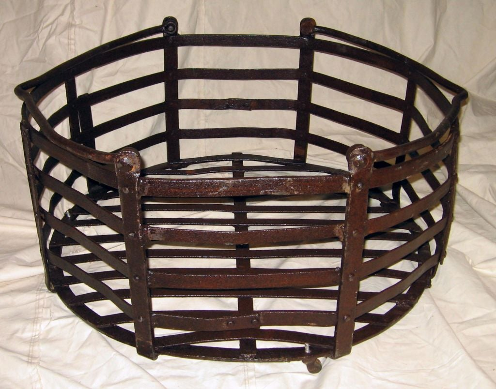 Industrial Metal Basket Coffee Table At 1stdibs