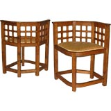 A PAIR OF PIERRE DARIEL CORNER CHAIRS
