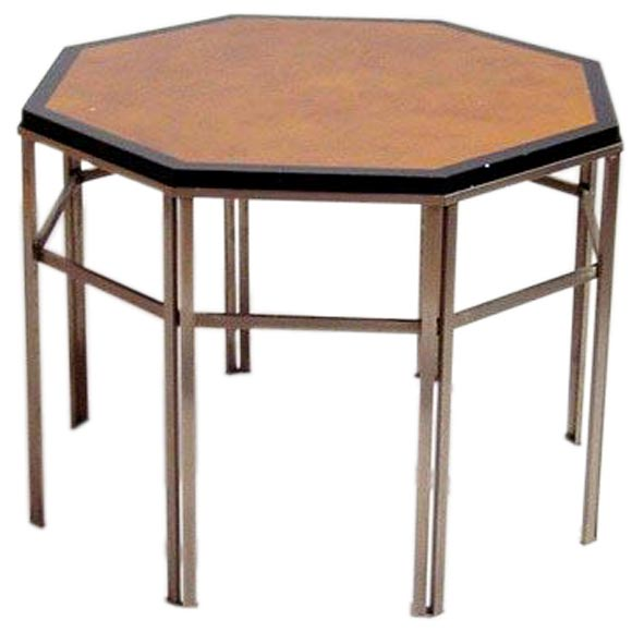A charles et fils octogonal side table at 1stdibs for Table franco et fils