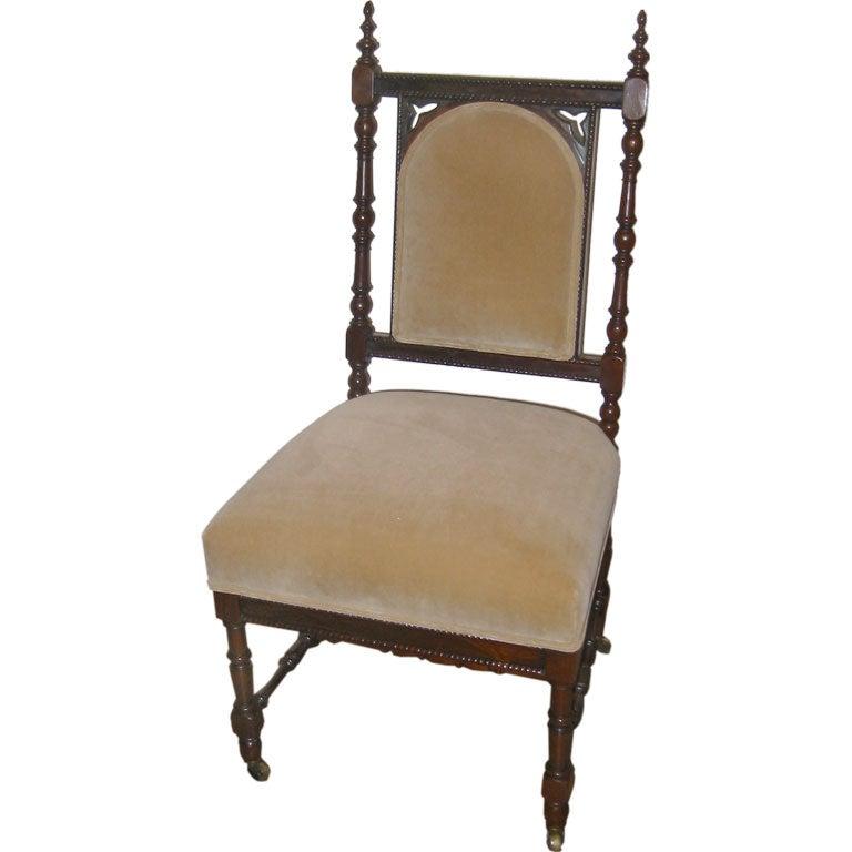Lovely Antique Slipper Chair At 1stdibs