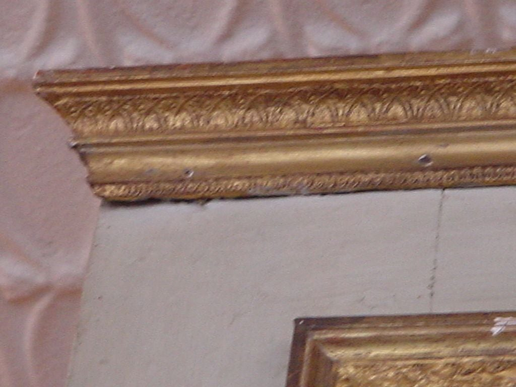 19th Century French Directoire Painted and Gilded Trumeau For Sale