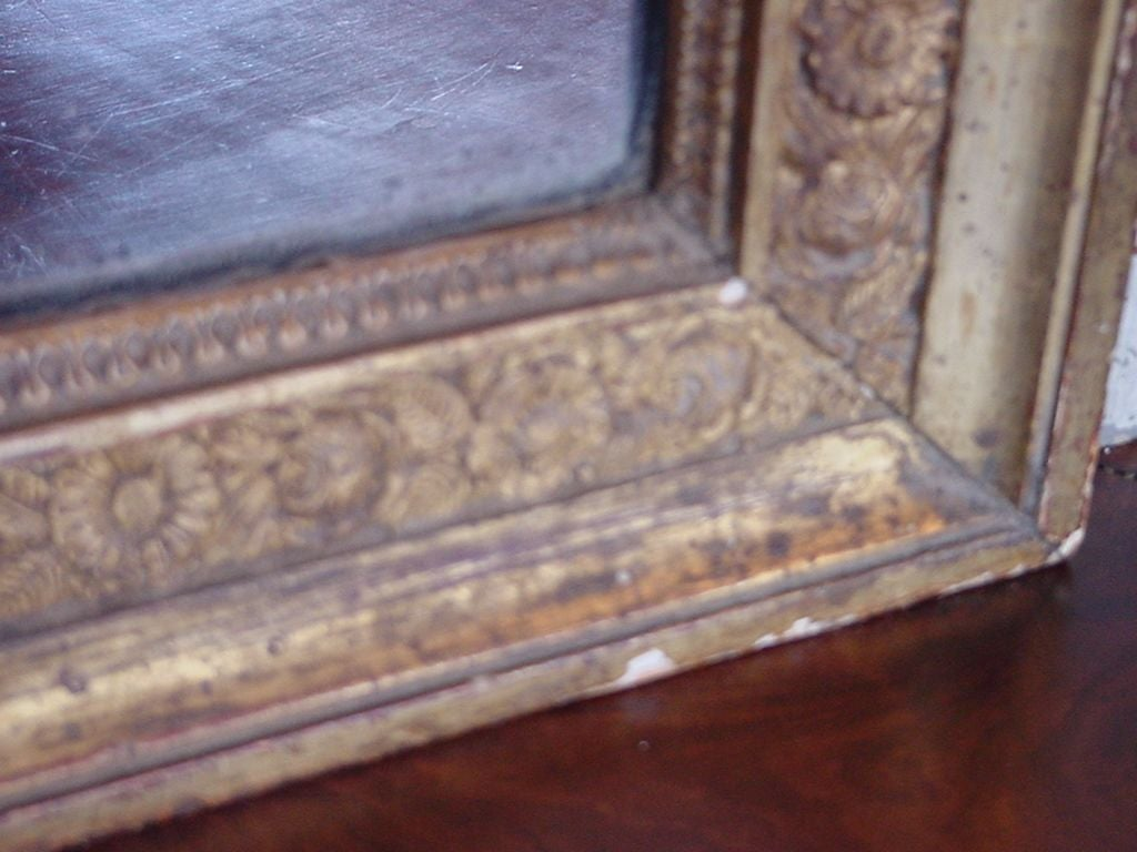 Mirror French Directoire Painted and Gilded Trumeau For Sale