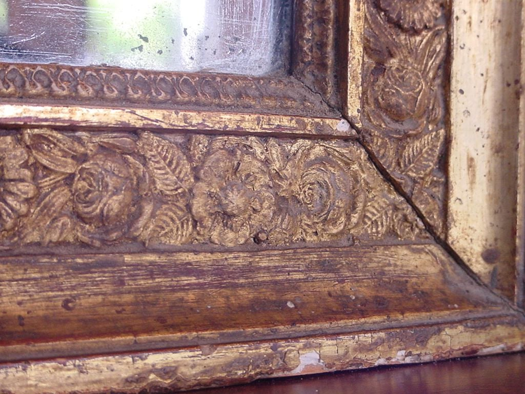 French Directoire Painted and Gilded Trumeau For Sale 1