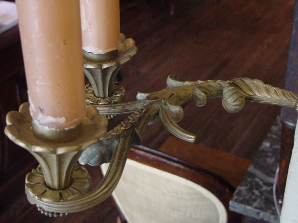 French Directoire Painted and Gilded Trumeau 8