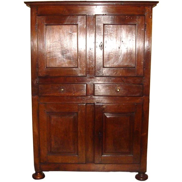 rustic 18th century armoire quatre portes at 1stdibs. Black Bedroom Furniture Sets. Home Design Ideas