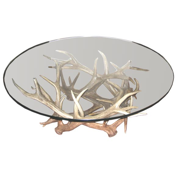 this antler cocktail table is no longer available