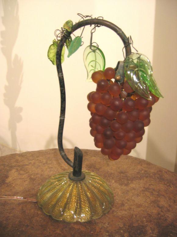 Grape Cluster Glass Lamp At 1stdibs