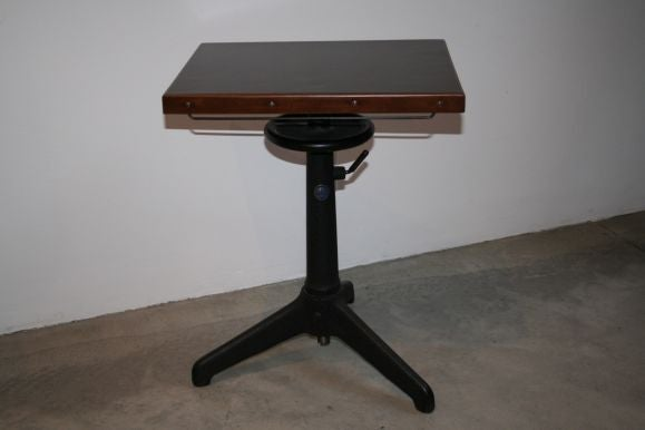 Pair of 20 39 s industrial rotating end tables at 1stdibs for Revolving end table