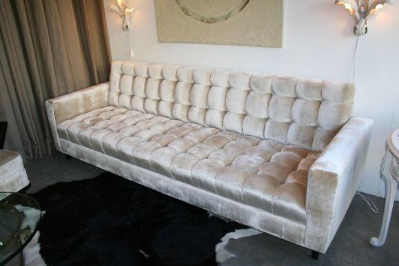 Custom Velvet Tufted Sofa 4