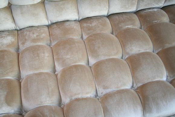 Custom Velvet Tufted Sofa 5