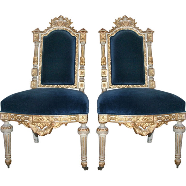 Pair of French Louis XVI Chairs at 1stdibs