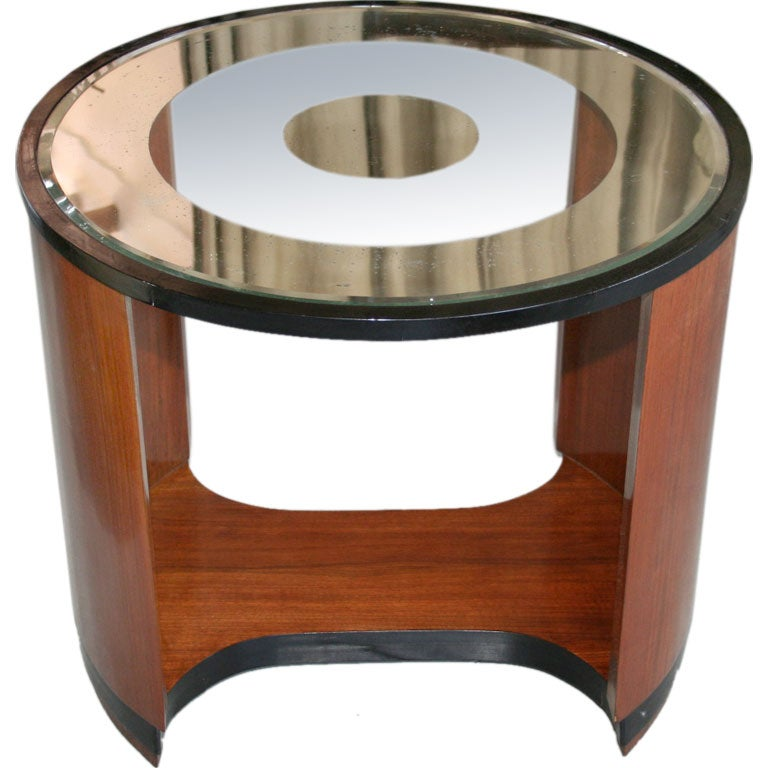 Art Deco Coffee Table With Mirrored Top At 1stdibs