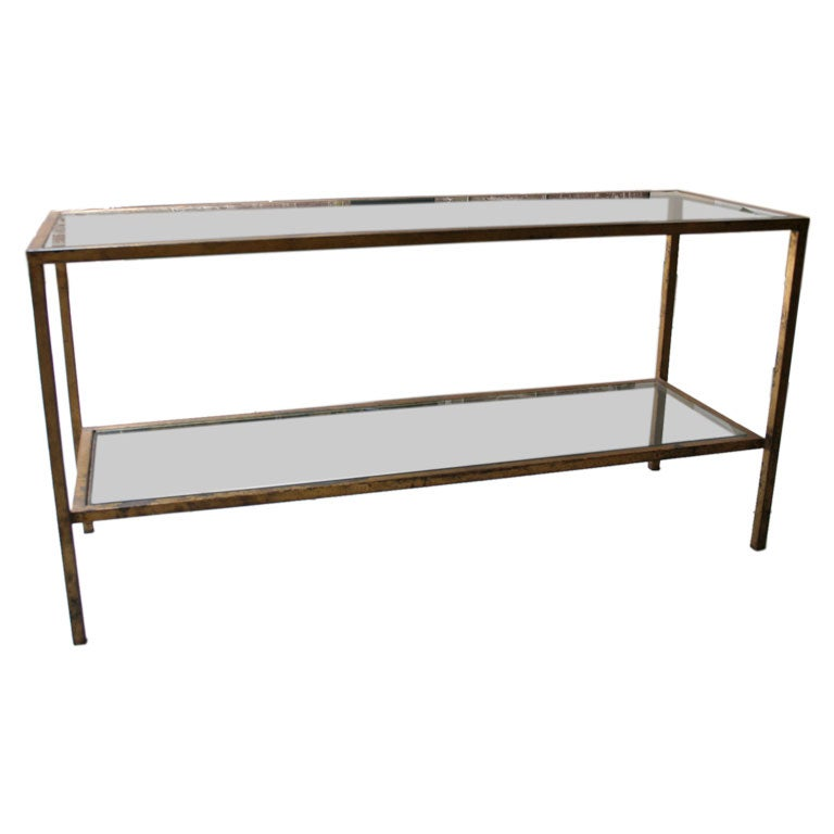 40 39 S Gold Leaf Console Table At 1stdibs