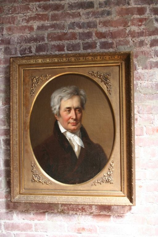 19th Century Oil Portrait Painting of a Count In Good Condition For Sale In Los Angeles, CA