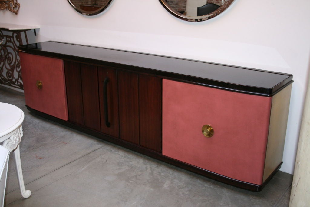1940s rosewood and leather sideboard cabinet for sale at for 1940s kitchen cabinets for sale