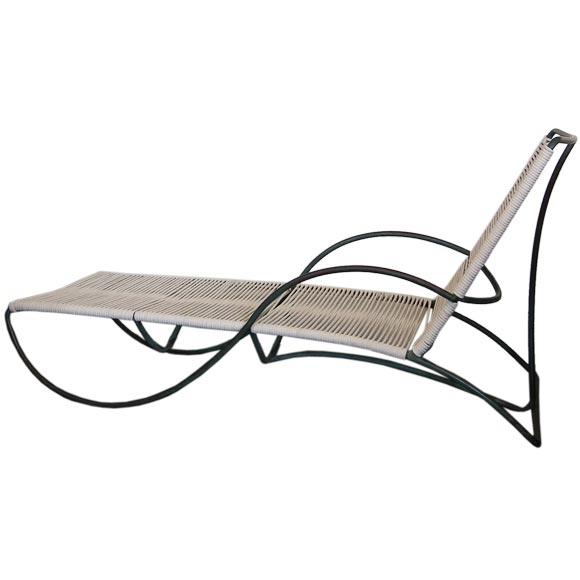 Bronze s chaise lounge by walter lamb for brown and for Bronze chaise lounge