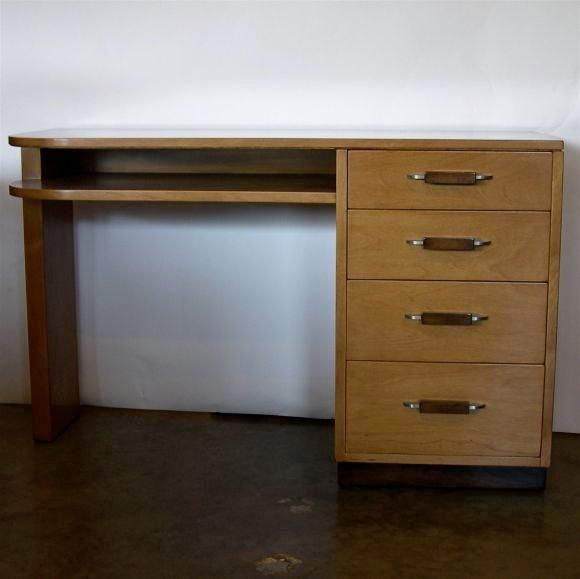Streamline Desk by Eliel Saarinen for Johnson Furniture image 5