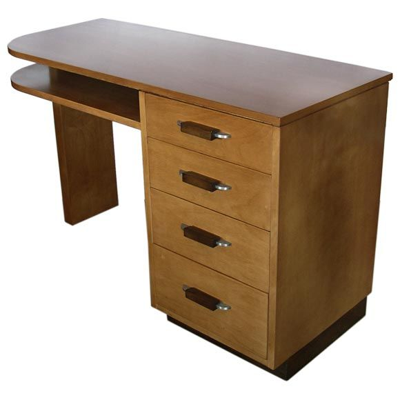 Streamline desk by eliel saarinen for johnson furniture at for Eliel saarinen furniture