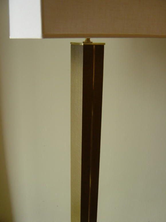 Karl Springer Mid-Century Linen and Brass Floor Lamp 6