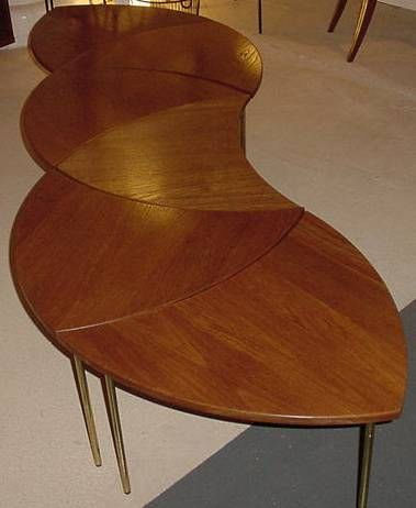Sixpart vintage Coffee Table Peter Hvidt at 1stdibs