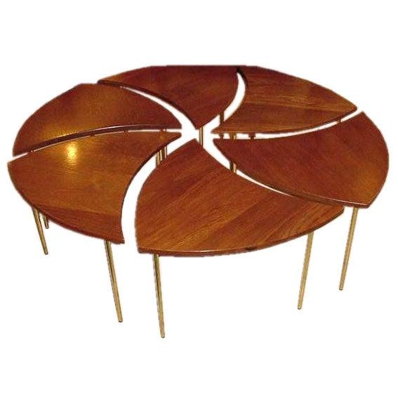 Sixpart vintage Coffee TablePeter Hvidt at 1stdibs