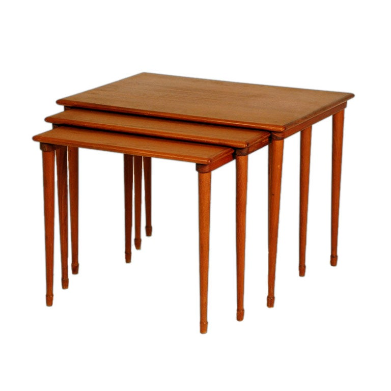 Scandinavian nesting tables