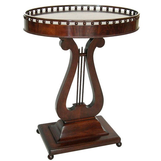 Oval Mahogany Lyre Shaped Side Table GMD1923 at 1stdibs : 1923a from www.1stdibs.com size 523 x 523 jpeg 29kB