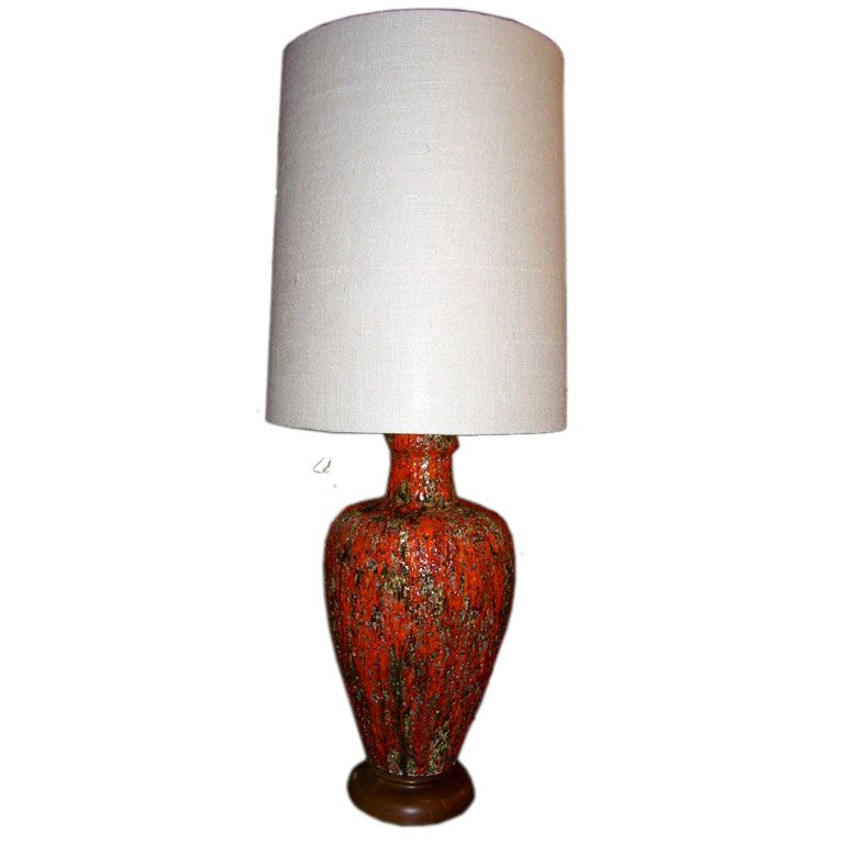 single tall terracotta table lamp at 1stdibs