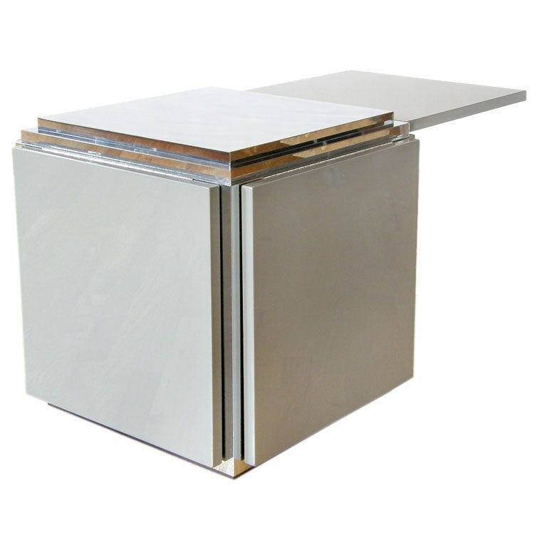 Cube Table With Flip Up Sides At 1stdibs
