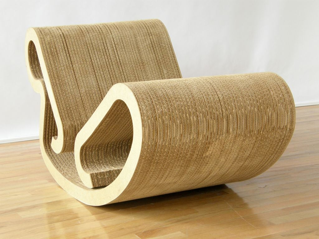 Frank Gehry Chaise Carton frank gehry rocking chaise at 1stdibs