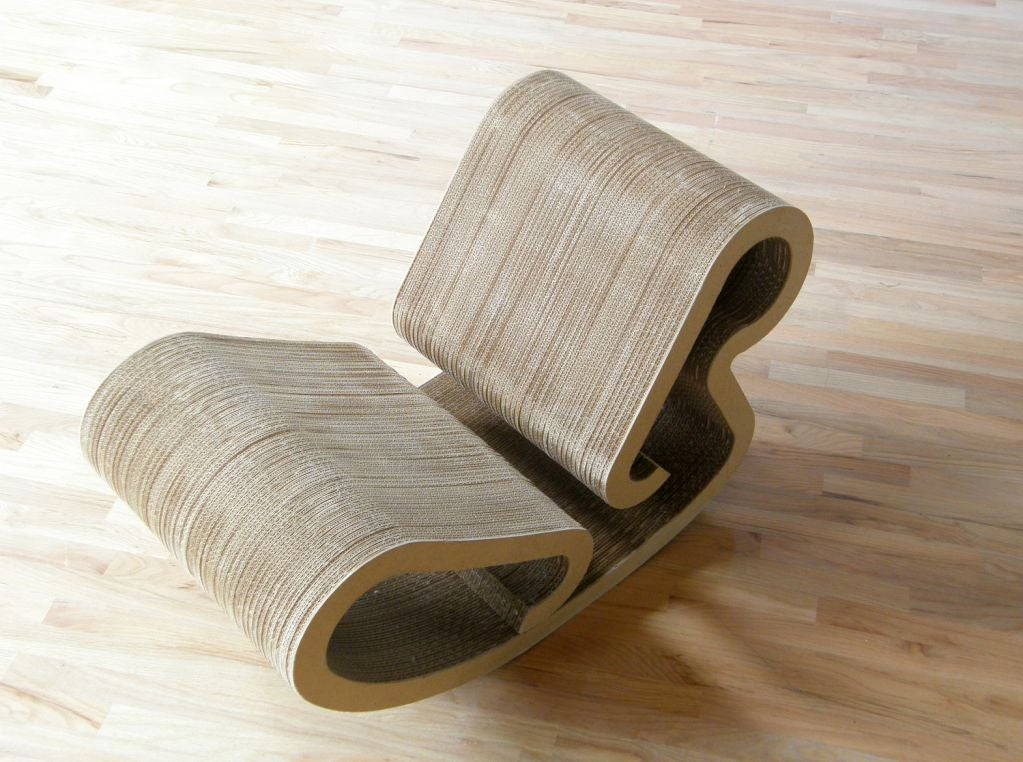 frank gehry rocking chaise at 1stdibs. Black Bedroom Furniture Sets. Home Design Ideas